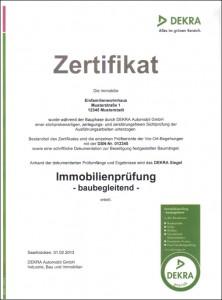 Dekra-Zertifikat